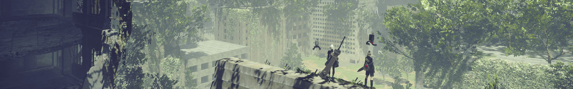 Banner media of NieR:Automata video game.