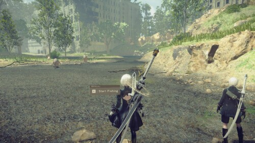 Button Prompt screenshot of NieR:Automata video game interface.