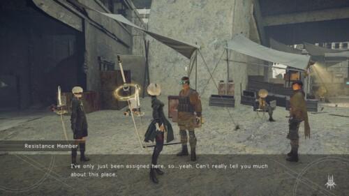 Dialoge screenshot of NieR:Automata video game interface.