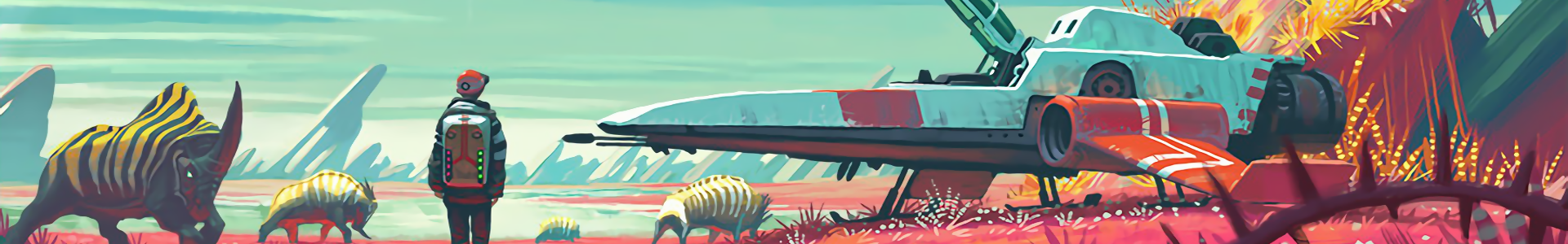 Banner media of No Man's Sky video game.