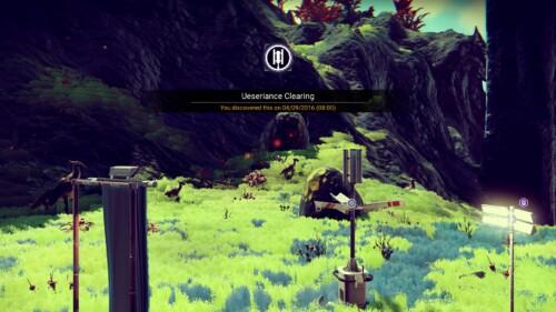 Celebration screenshot of No Man's Sky video game interface.
