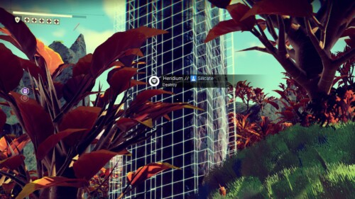 Info screenshot of No Man's Sky video game interface.