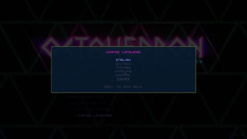 Change language screenshot of Octahedron video game interface.