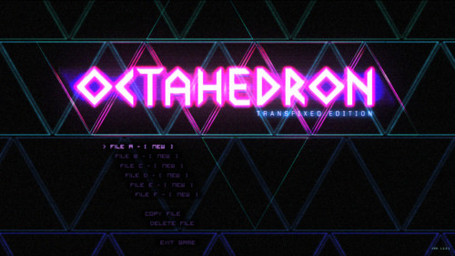 Select file screenshot of Octahedron video game interface.