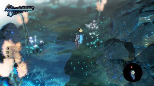 Interaction screenshot of Oninaki video game interface.