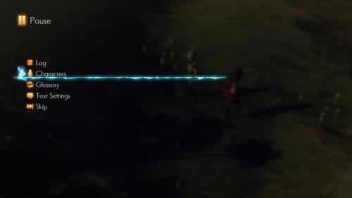 Pause screenshot of Oninaki video game interface.