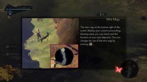 Tip screenshot of Oninaki video game interface.