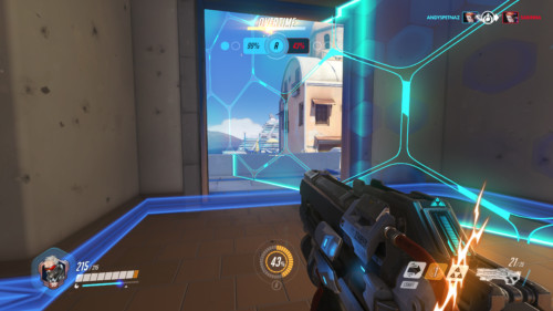 Overtime screenshot of Overwatch video game interface.