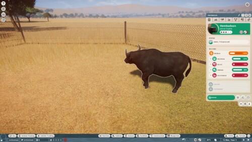 Animal information screenshot of Planet Zoo video game interface.