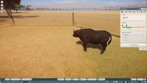 Animal timeline screenshot of Planet Zoo video game interface.