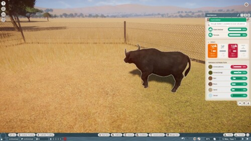 Annotation screenshot of Planet Zoo video game interface.