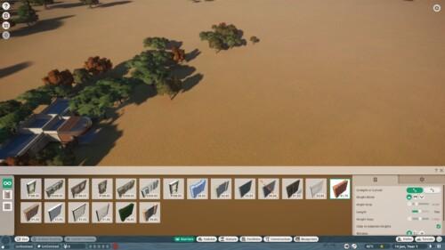 Barriers menu screenshot of Planet Zoo video game interface.