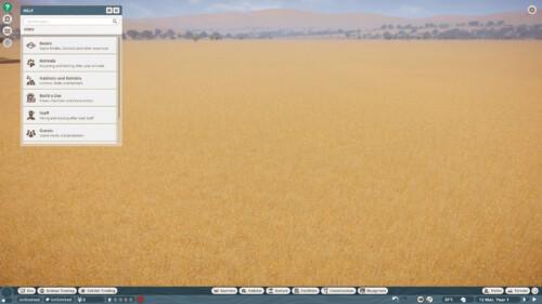 Help screenshot of Planet Zoo video game interface.