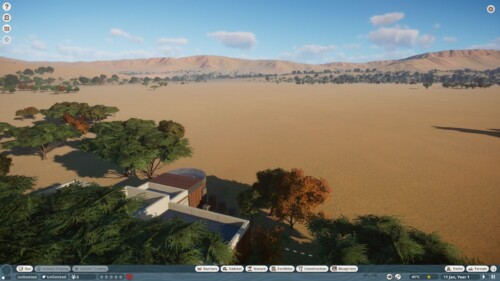 Ingame overlay screenshot of Planet Zoo video game interface.