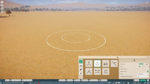 Landscape  screenshot of Planet Zoo video game interface.