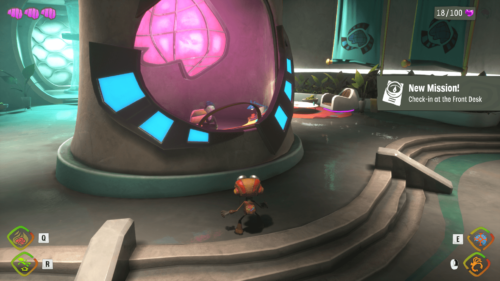 HUD screenshot of Psychonauts 2 video game interface.
