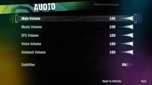 Audio screenshot of Psychonauts 2 video game interface.