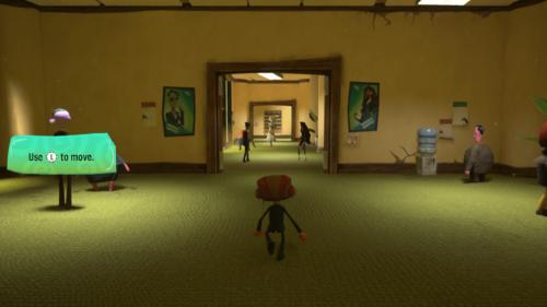 Hint screenshot of Psychonauts 2 video game interface.