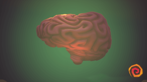 Loading screenshot of Psychonauts 2 video game interface.