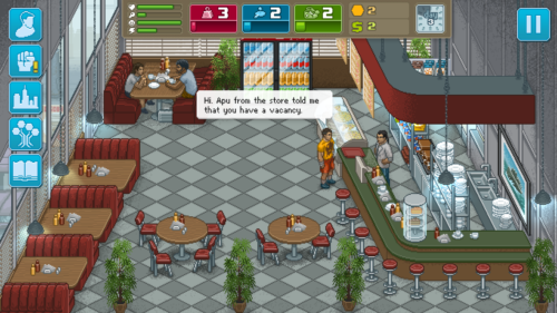 Dialogue screenshot of Punch Club video game interface.