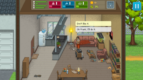 Dialogue selection screenshot of Punch Club video game interface.
