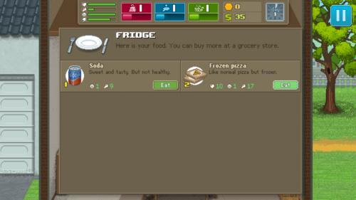 Fridge screenshot of Punch Club video game interface.