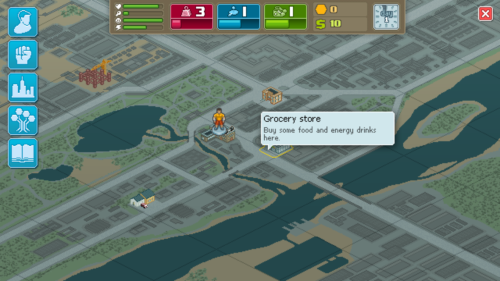 Map screenshot of Punch Club video game interface.