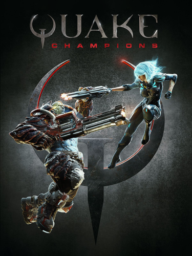Cover media of Quake Champions video game.