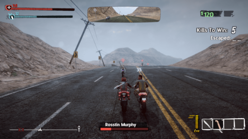 Race screenshot of Road Redemption video game interface.