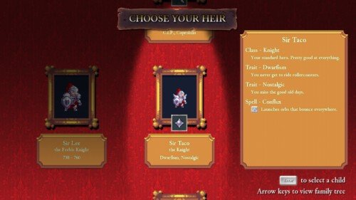 rogue-legacy-choose-your-heir
