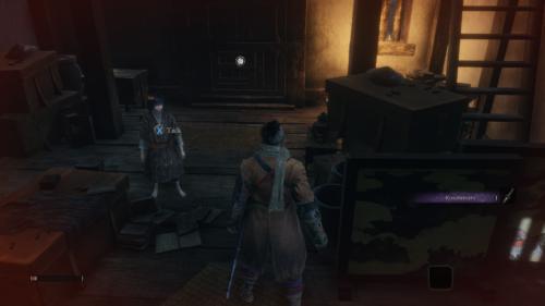 Action screenshot of Sekiro: Shadows Die Twice video game interface.