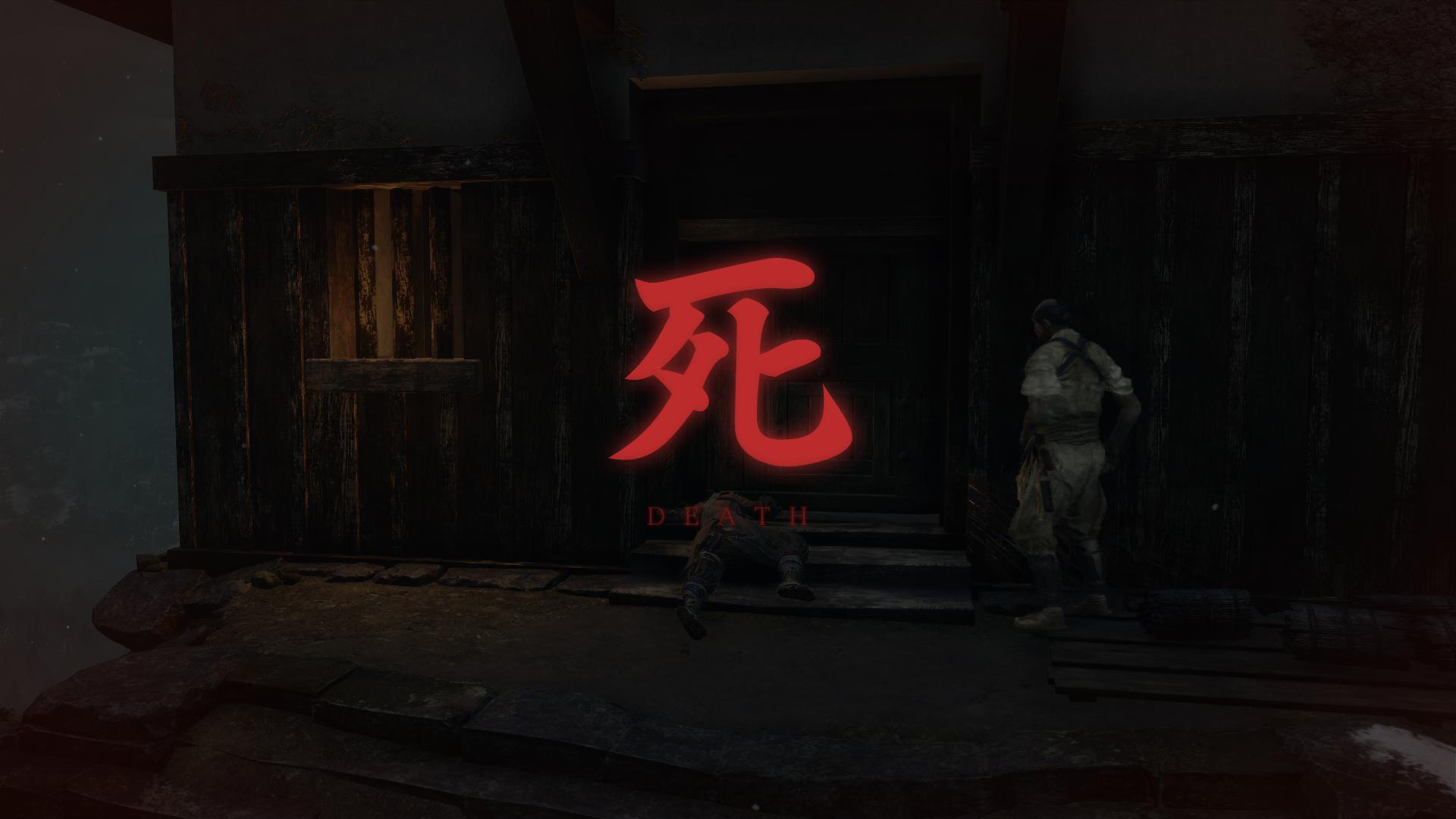 Death screenshot of Sekiro: Shadows Die Twice video game interface.