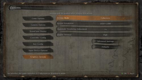 Graphics options screenshot of Sekiro: Shadows Die Twice video game interface.