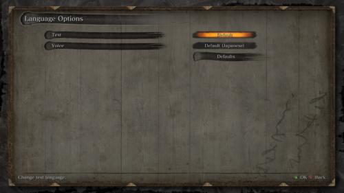 Language options screenshot of Sekiro: Shadows Die Twice video game interface.