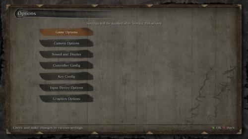 Options screenshot of Sekiro: Shadows Die Twice video game interface.