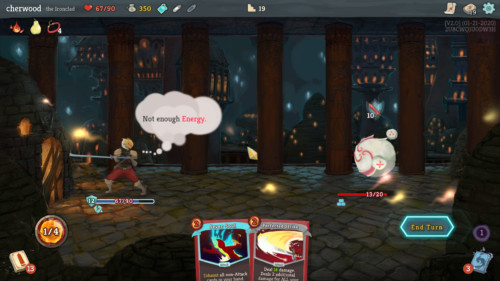 Not enough energy screenshot of Slay the Spire video game interface.