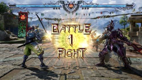 Battle one fight screenshot of SoulCalibur VI video game interface.