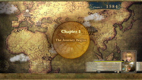 Chapter one screenshot of SoulCalibur VI video game interface.