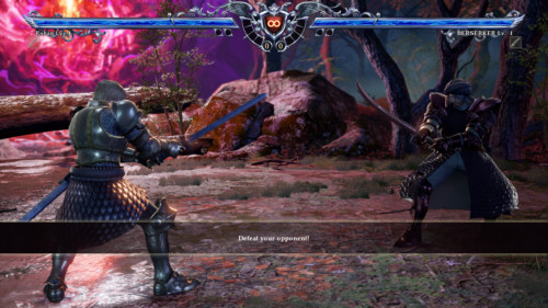 Defeat your opponent screenshot of SoulCalibur VI video game interface.