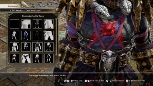 Equipment screenshot of SoulCalibur VI video game interface.