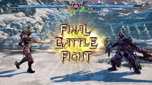 Final battle fight screenshot of SoulCalibur VI video game interface.