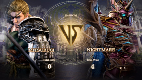Versus screenshot of SoulCalibur VI video game interface.