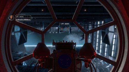 Radio chat screenshot of Star Wars: Squadrons video game interface.