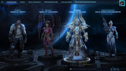 Campaign selection screenshot of Starcraft II: Legacy of the Void video game interface.