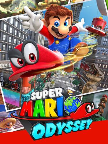Cover media of Super Mario Odyssey video game.
