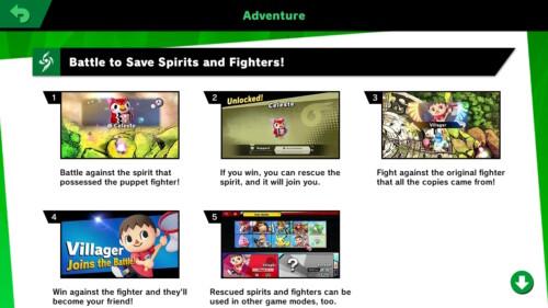 Adventure tip screenshot of Super Smash Bros. Ultimate video game interface.