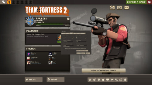 Audio screenshot of Team Fortress 2 video game interface.