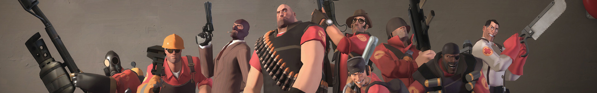 Banner media of Team Fortress 2 video game.