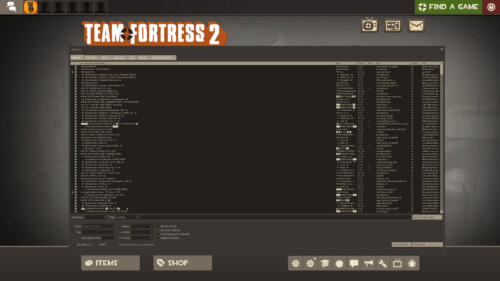 Community server browser screenshot of Team Fortress 2 video game interface.