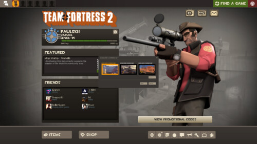 Developer commentary screenshot of Team Fortress 2 video game interface.